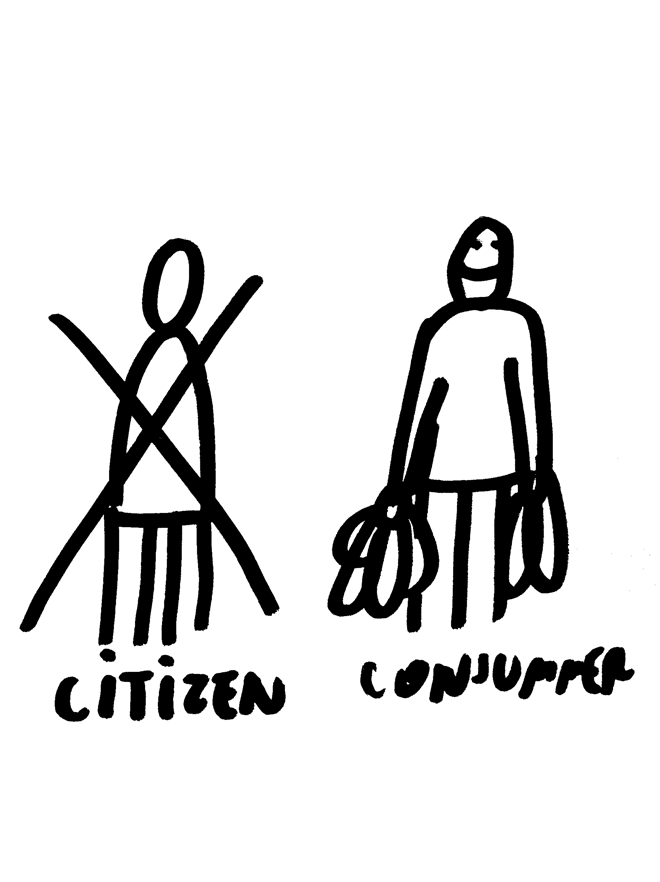 Citizen—Consumer, 2008 Artwork by Dan Perjovschi