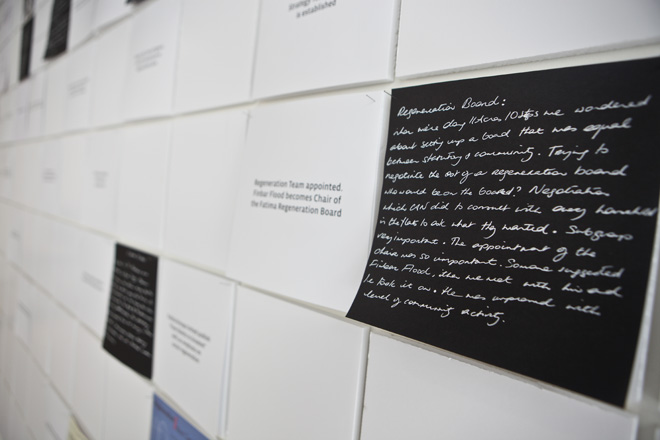Fatima, A Cultural Archaeology, Timeline Wall NCAD Gallery (2)