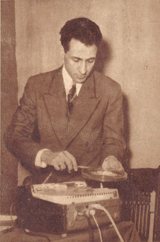 Tape music pioneer Halim El-Dabh in Cairo, 1930s.